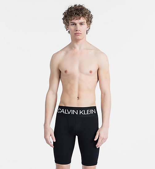 CALVINKLEIN Cycle Shorts - CK Performance - BLACK W/ SUNFLOWER PATCH - CALVIN KLEIN MEN'S PERFORMANCE - main image