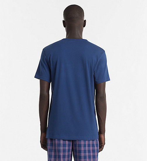 CALVINKLEIN Logo T-shirt - Comfort Cotton - ESTATE BLUE - CALVIN KLEIN PYJAMA TOPS - detail image 1