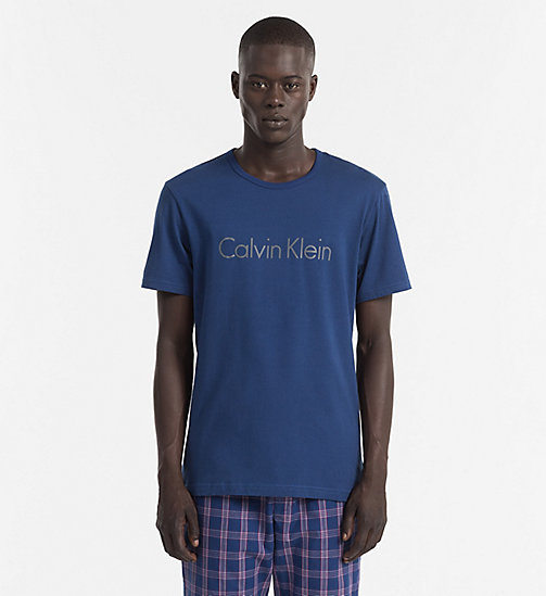 CALVINKLEIN Logo T-shirt - Comfort Cotton - ESTATE BLUE - CALVIN KLEIN PYJAMA TOPS - main image