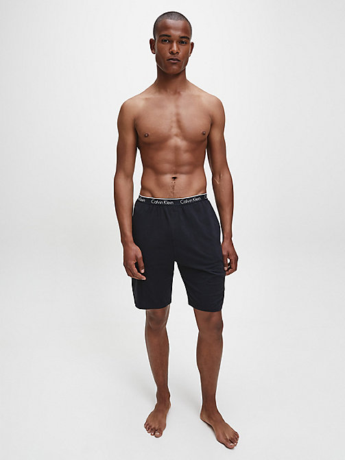 CALVINKLEIN PJ Shorts - CK Sleep - BLACK - CALVIN KLEIN NIGHTWEAR & LOUNGEWEAR - detail image 1
