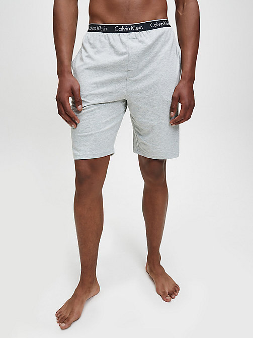 CALVIN KLEIN PJ Shorts - CK Sleep - GREY HEATHER - CALVIN KLEIN PYJAMA BOTTOMS - main image