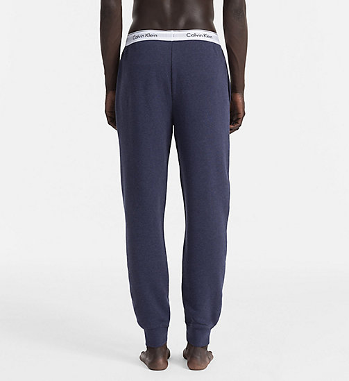 CALVINKLEIN Jogging Pants - Modern Cotton - BLUE SHADOW HEATHER - CALVIN KLEIN LOUNGE PANTS - detail image 1