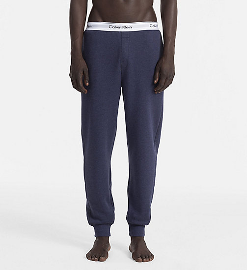 CALVINKLEIN Jogging Pants - Modern Cotton - BLUE SHADOW HEATHER - CALVIN KLEIN LOUNGE PANTS - main image