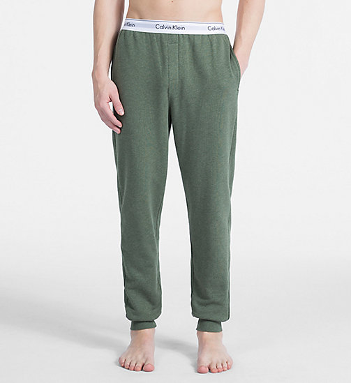 CALVIN KLEIN Joggers - Modern Cotton - HUNTSMAN HEATHER - CALVIN KLEIN LOUNGE PANTS - main image