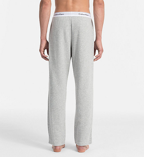 CALVINKLEIN Lounge Pants - Modern Cotton - GREY HEATHER - CALVIN KLEIN MEN - detail image 1