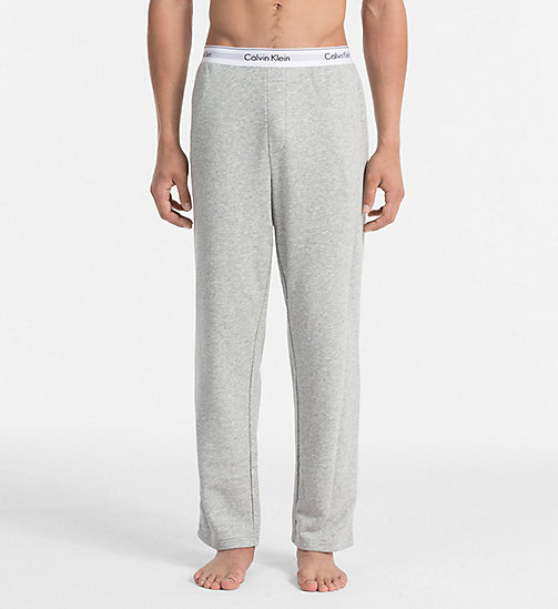 CALVINKLEIN Lounge Pants - Modern Cotton - GREY HEATHER - CALVIN KLEIN MEN - main image