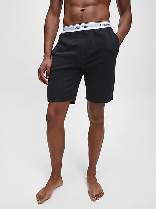 CALVINKLEIN PJ Shorts - Modern Cotton - BLACK - CALVIN KLEIN PYJAMA BOTTOMS - main image