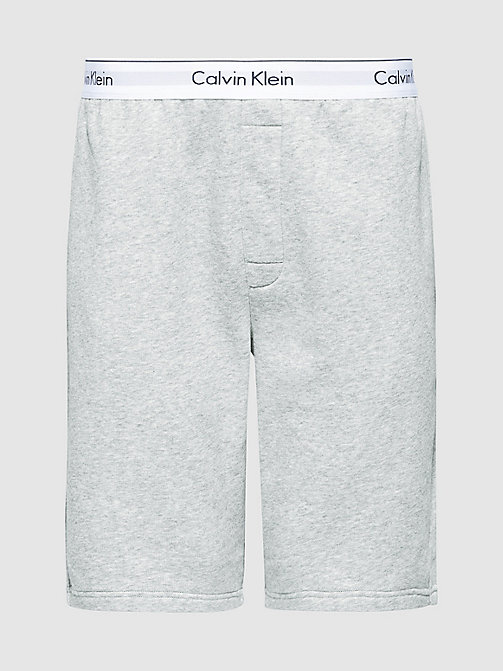 CALVIN KLEIN PJ Shorts - Modern Cotton - GREY HEATHER - CALVIN KLEIN PYJAMA BOTTOMS - main image