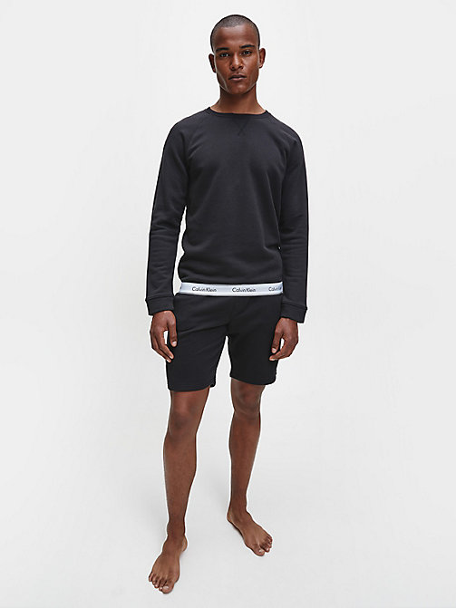 CALVIN KLEIN Sweatshirt - Modern Cotton - BLACK - CALVIN KLEIN LOUNGE TOPS - main image