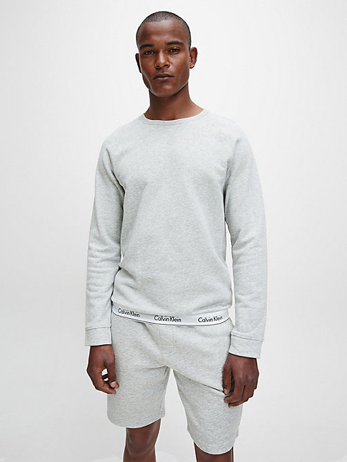 CALVIN KLEIN Sweat-shirt - Modern Cotton - GREY HEATHER - CALVIN KLEIN HAUTS DÉTENTE - image principale