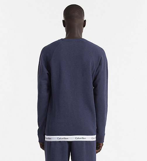 CALVINKLEIN Sweatshirt - Modern Cotton - BLUE SHADOW HEATHER - CALVIN KLEIN LOUNGE TOPS - detail image 1