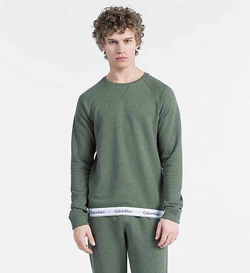 CALVINKLEIN Sweatshirt - Modern Cotton - HUNTSMAN HEATHER - CALVIN KLEIN LOUNGE-TOPS - main image