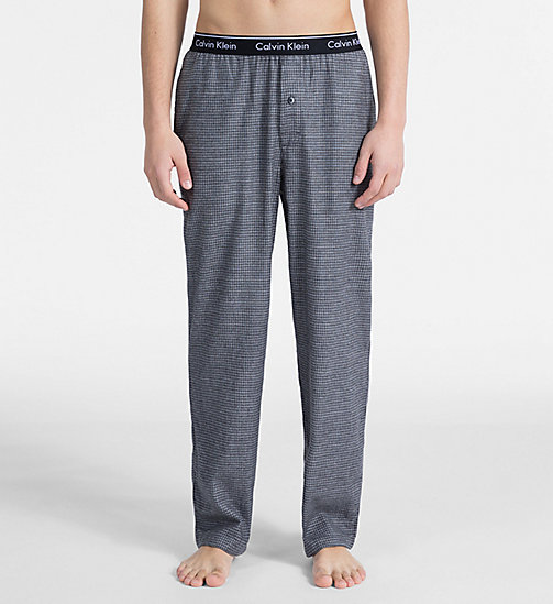 CALVIN KLEIN PJ Pants - MILL CHECK BLACK - CALVIN KLEIN NEW FOR MEN - main image