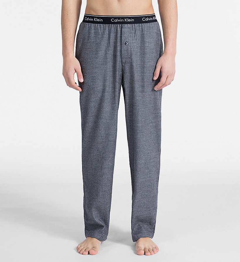 CALVIN KLEIN PJ Pants - MAPLE PLAID BOLD NAVY - CALVIN KLEIN MEN - main image