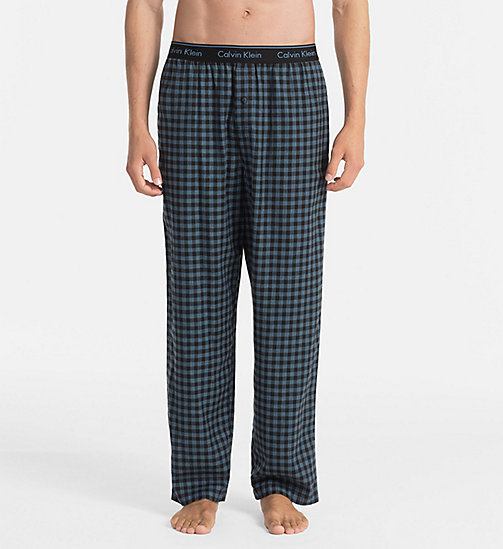 CALVINKLEIN PJ Pants - CASEMENT PLAID BLACK - CALVIN KLEIN UNDERWEAR - main image