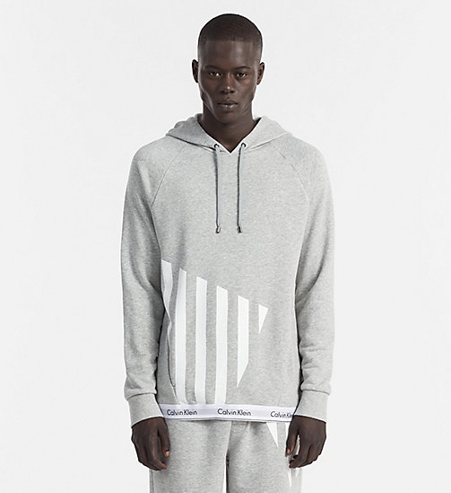 CALVINKLEIN Hoodie - Modern Cotton - HEATHER GREY - CALVIN KLEIN LOUNGE TOPS - main image