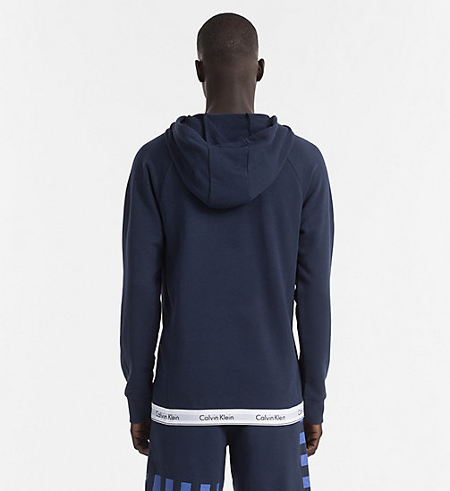 CALVINKLEIN Hoodie - Modern Cotton - BLUE SHADOW - CALVIN KLEIN LOUNGE TOPS - detail image 1