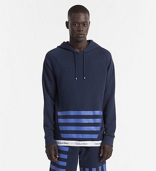 CALVINKLEIN Hoodie - Modern Cotton - BLUE SHADOW - CALVIN KLEIN LOUNGE TOPS - main image