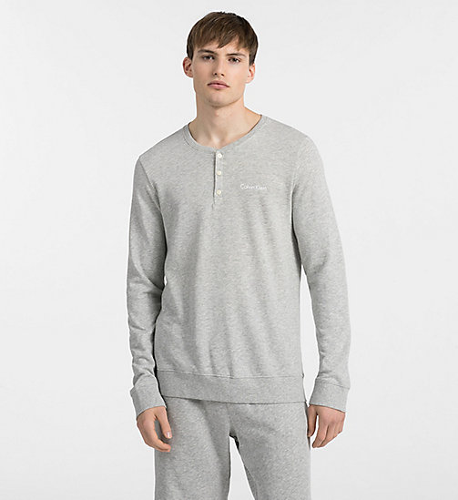 CALVINKLEIN Sweatshirt - Heritage - HEATHER GREY - CALVIN KLEIN LOUNGE TOPS - main image