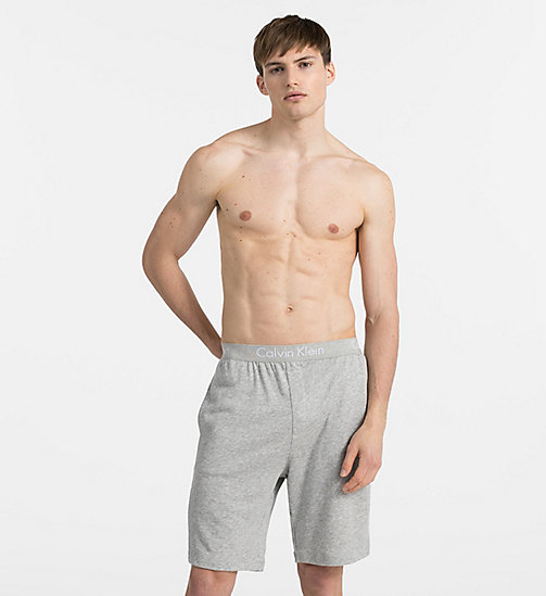 CALVINKLEIN Lounge Shorts - Heritage - HEATHER GREY - CALVIN KLEIN LOUNGE PANTS - main image
