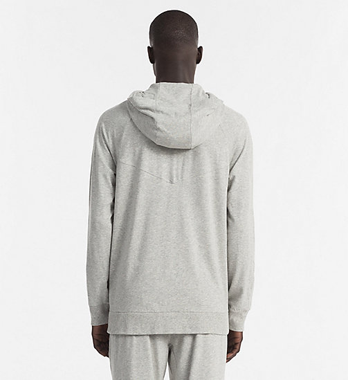 CALVINKLEIN Zip Hoodie - Focused Fit - HEATHER GREY - CALVIN KLEIN LOUNGE TOPS - detail image 1