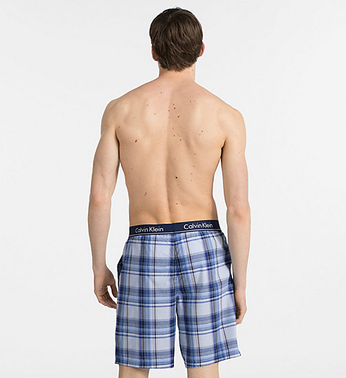 CALVINKLEIN PJ Shorts - PLAID 5 TUSCAN NAVY - CALVIN KLEIN PYJAMA BOTTOMS - detail image 1