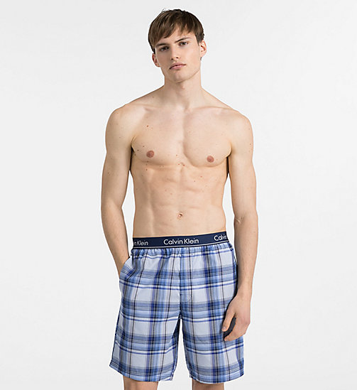 CALVINKLEIN PJ Shorts - PLAID 5 TUSCAN NAVY - CALVIN KLEIN PYJAMA BOTTOMS - main image