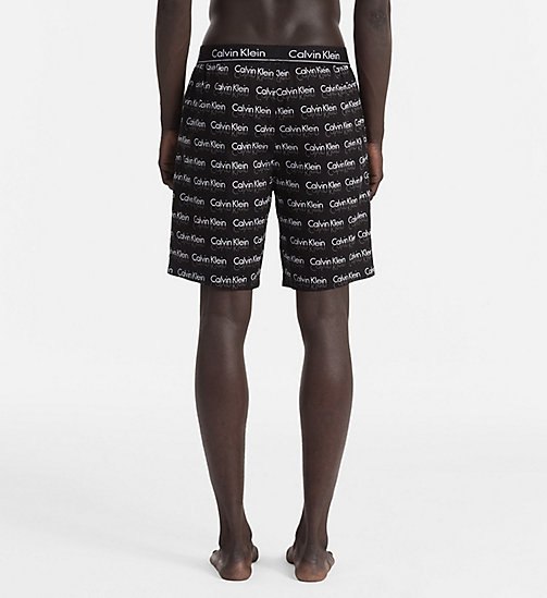 CALVINKLEIN PJ Shorts - REFLECT LOGO BLACK - CALVIN KLEIN PYJAMA BOTTOMS - detail image 1