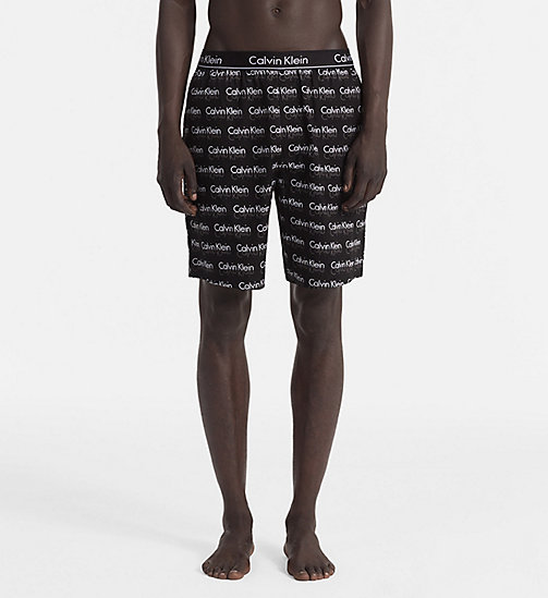 CALVINKLEIN PJ Shorts - REFLECT LOGO BLACK - CALVIN KLEIN PYJAMA BOTTOMS - main image