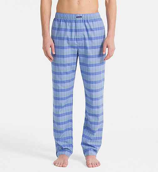 CALVINKLEIN PJ Pants - DB PLAID CAROLINA - CALVIN KLEIN UNDERWEAR - main image