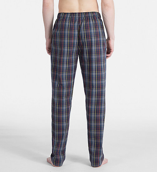 CALVIN KLEIN PJ Pants - GRAPHIC PLAID GREY SKY - CALVIN KLEIN PYJAMA BOTTOMS - detail image 1