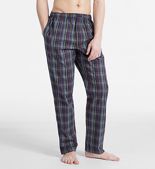 CALVIN KLEIN PJ Pants - GRAPHIC PLAID GREY SKY - CALVIN KLEIN UNDERWEAR - main image