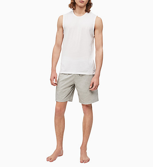 CALVIN KLEIN PJ Shorts - Modern Cotton - HEATHER GREY - CALVIN KLEIN PYJAMA BOTTOMS - detail image 1