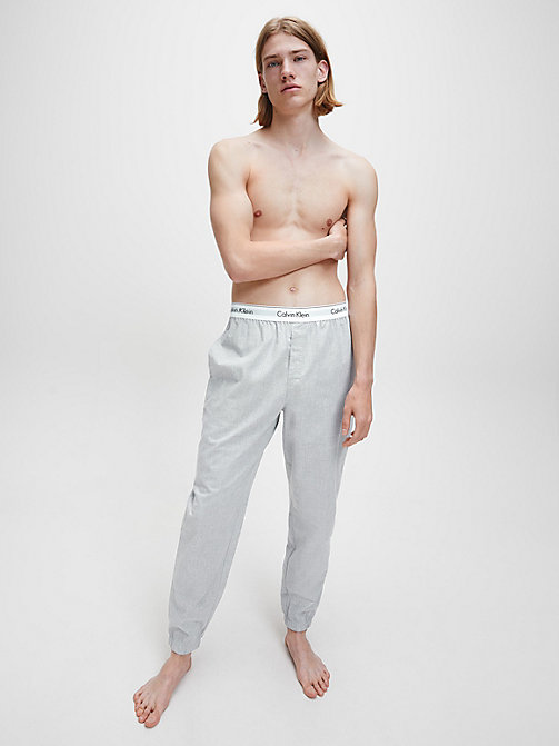 CALVIN KLEIN Joggers - Modern Cotton - HEATHER GREY - CALVIN KLEIN MEN - detail image 1
