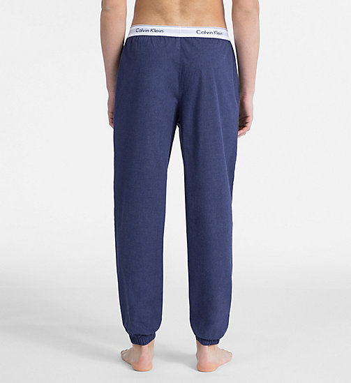 CALVIN KLEIN Joggers - Modern Cotton - BLUE SHADOW HEATHER - CALVIN KLEIN LOUNGE PANTS - detail image 1