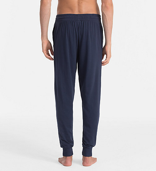 CALVINKLEIN Logo Jogging Pants - BLUE SHADOW W/ WHITE LOGO - CALVIN KLEIN LOUNGE PANTS - detail image 1