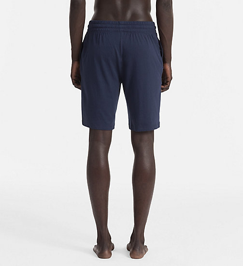 CALVINKLEIN Logo-Shorts - BLUE SHADOW W/ WHITE LOGO -  LOUNGE-HOSEN - main image 1