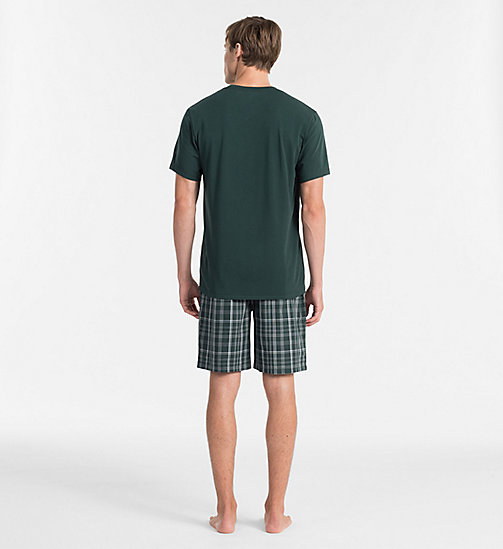 CALVINKLEIN PJ-set - PLAID M INK GREEN BOTTOM/ INK GREEN TOP - CALVIN KLEIN PYJAMA'S - detail image 1