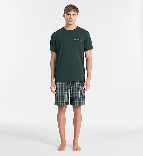 CALVINKLEIN PJ Set - PLAID M INK GREEN BOTTOM/ INK GREEN TOP - CALVIN KLEIN PYJAMAS - main image