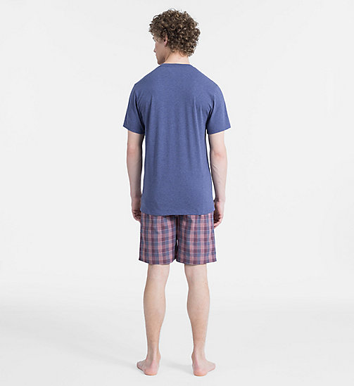 CALVIN KLEIN Short d'ensemble de pyjama - PLACID H TOP/ FAIRWAY PLAID PANT - CALVIN KLEIN SOUS-VÊTEMENTS - image détaillée 1