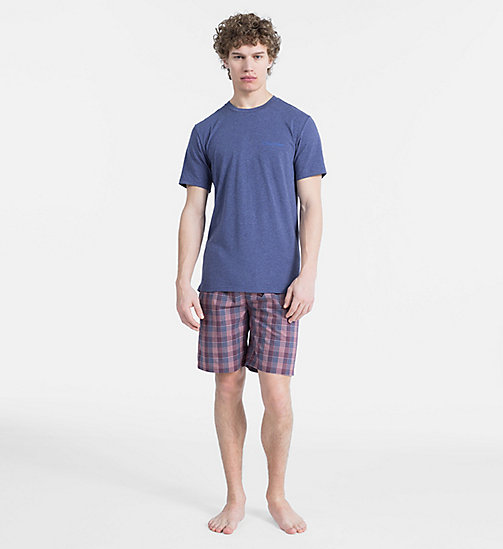 CALVIN KLEIN Short d'ensemble de pyjama - PLACID H TOP/ FAIRWAY PLAID PANT - CALVIN KLEIN SOUS-VÊTEMENTS - image principale