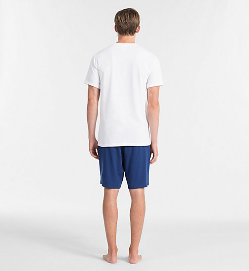 CALVINKLEIN PJ Set - ESTATE BLUE BOTTOM/ WHITE W/ REFELCT LOG - CALVIN KLEIN PYJAMAS - detail image 1