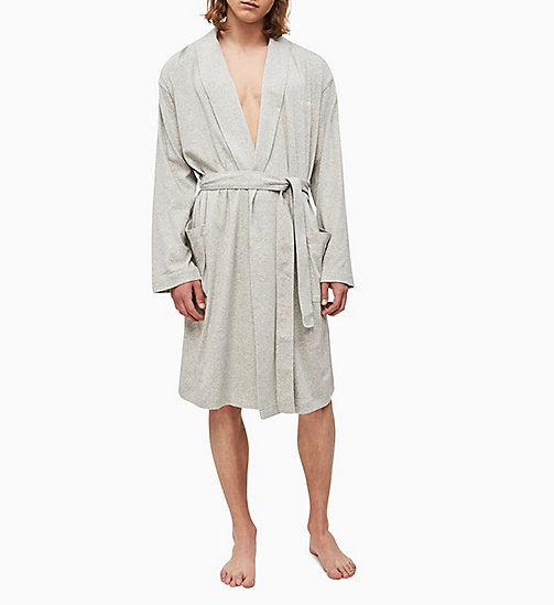 CALVIN KLEIN Bathrobe - GREY HEATHER - CALVIN KLEIN NEW FOR MEN - detail image 1