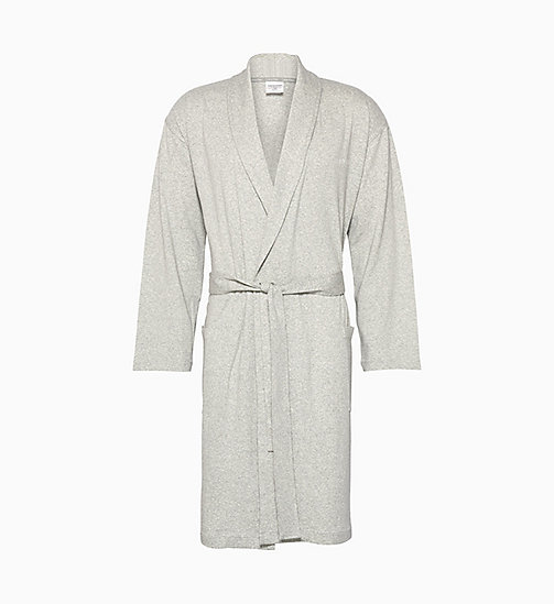 CALVIN KLEIN Bathrobe - GREY HEATHER - CALVIN KLEIN NEW IN - main image