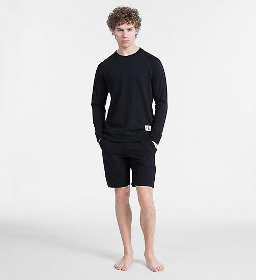 CALVIN KLEIN Свитшот - Monogram - BLACK - CALVIN KLEIN MONOGRAM FOR HIM - подробное изображение 1