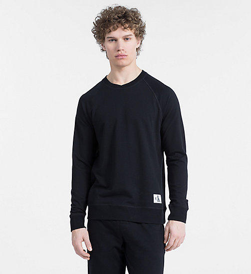 CALVINKLEIN Felpa - Monogram - BLACK - CALVIN KLEIN MONOGRAM FOR HIM - immagine principale