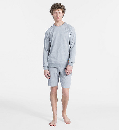 CALVIN KLEIN Sweat-shirt - Monogram - GREY HEATHER - CALVIN KLEIN MONOGRAM FOR HIM - image détaillée 1
