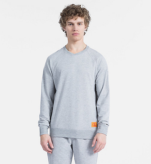 CALVIN KLEIN Sweatshirt - Monogram - GREY HEATHER - CALVIN KLEIN MONOGRAM FOR HIM - main image