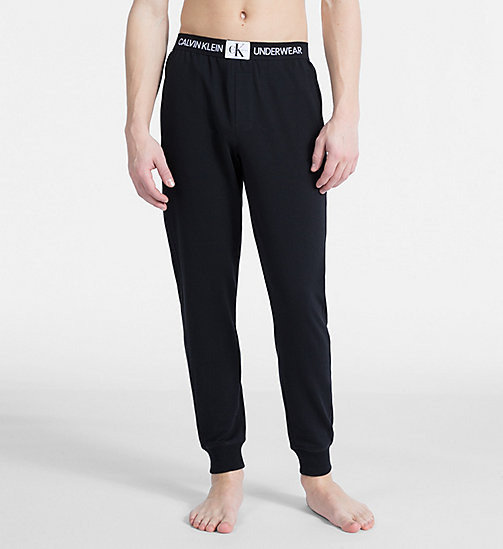 CALVIN KLEIN Joggers - Monogram - BLACK - CALVIN KLEIN MONOGRAM FOR HIM - main image