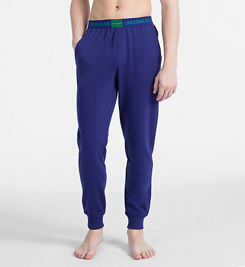 CALVIN KLEIN Joggers - Monogram - SHILO BLUE - CALVIN KLEIN MONOGRAM FOR HIM - main image